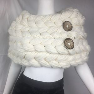 Anthro S/M cowl scarf braided wool/acrylic